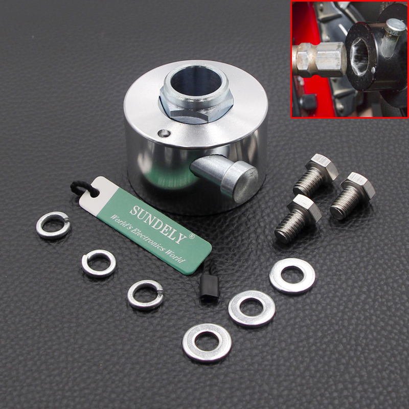 """Car Steering Wheel Quick Release Disconnect Hub 3//4/"""" Shaft Aluminum Silver"""