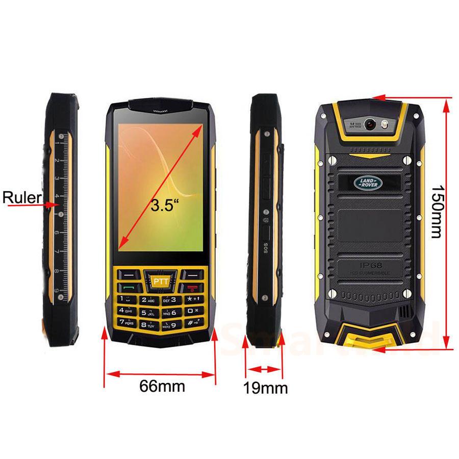 New Sos Elder People Cell Phone Waterproof Nfc Walkie