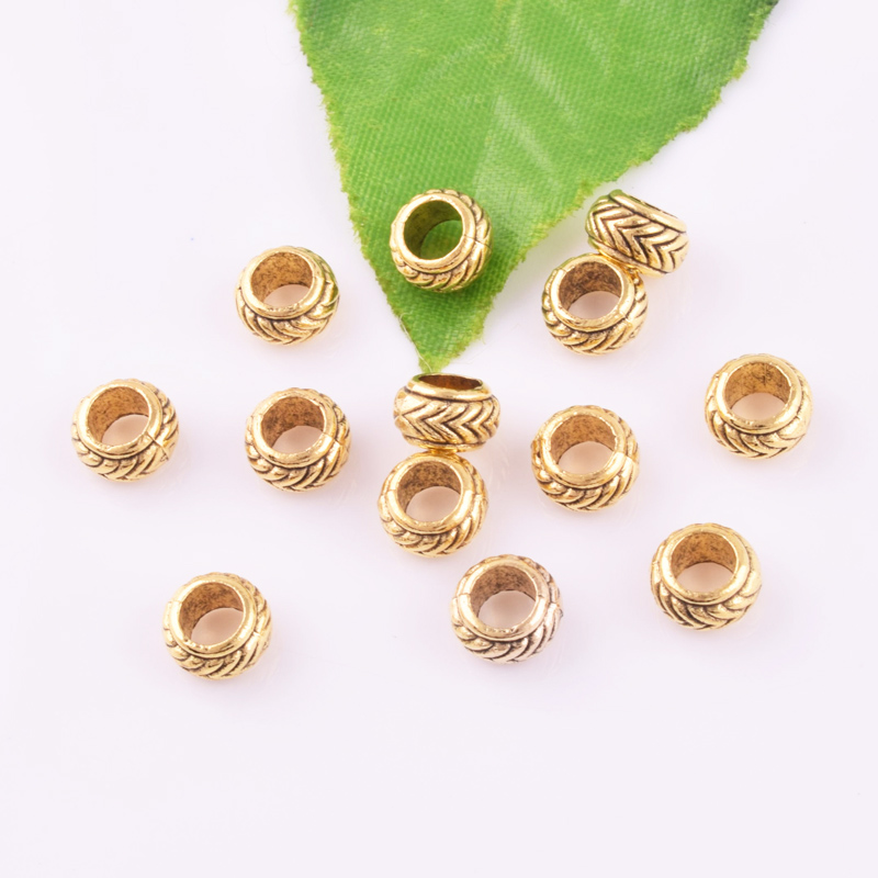 10pcs Ancient gold//Silver//Bronze Curved Tube Loose Beads DIY Jewelry Findings