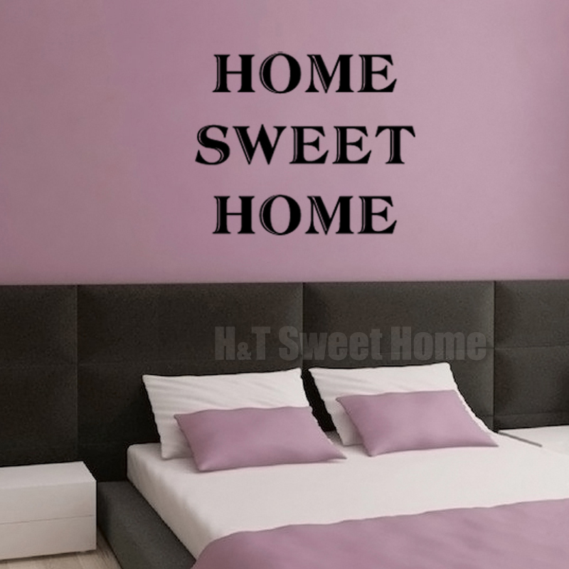 Home sweet home quote words letter vinyl wall sticker Home sweet home wall decor