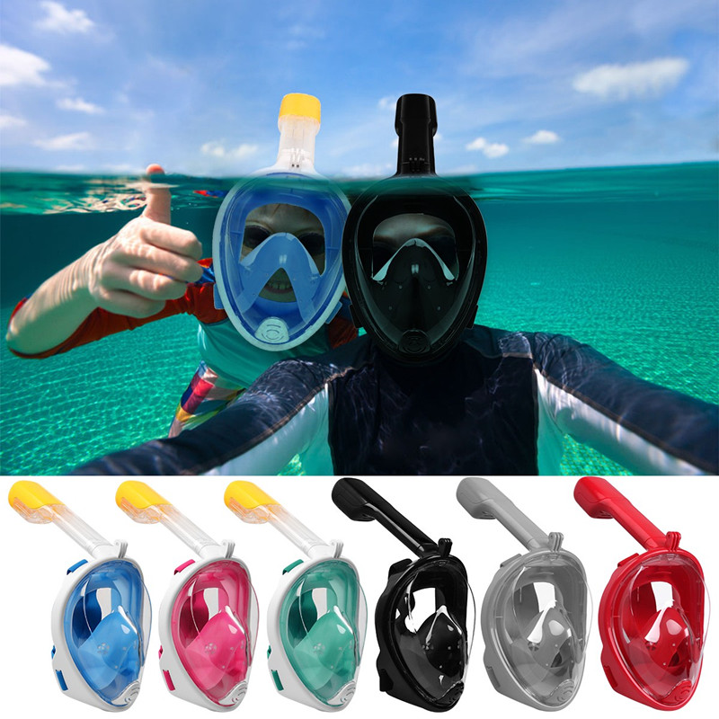 f847f9238 Detachable Flat Surface Full Face Snorkel Diving Mask Swimming Scuba Kids  Adults