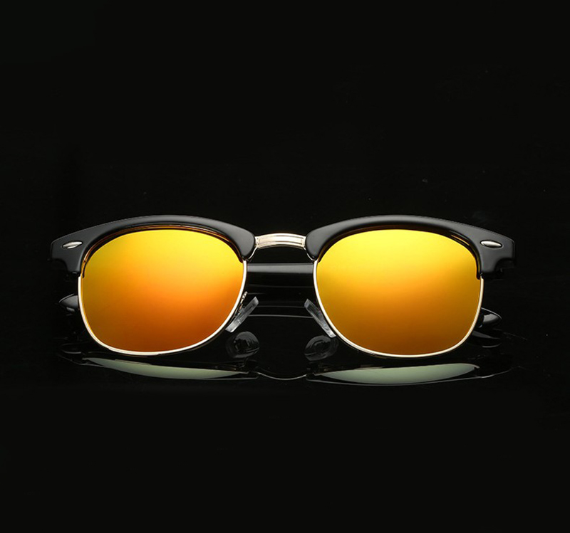 9d760caf9abb1 Half Frame Semi-Rimless Polarized Sunglasses Mens Womens Retro Vintage  Eyewear