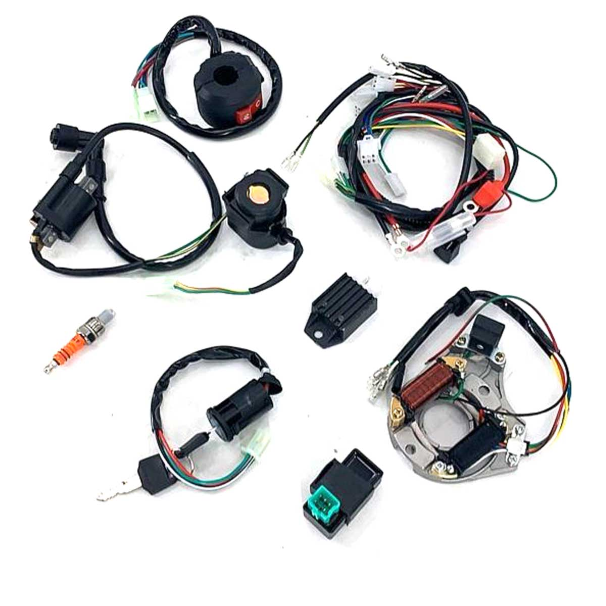 One Set Electric Atv Cdi Wire Harness Stator Wiring Kit Manual Guide