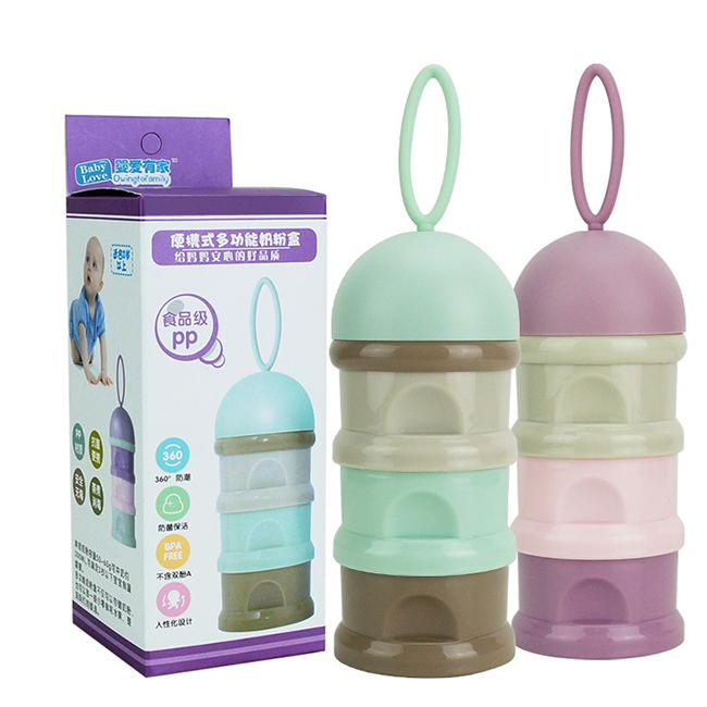 3 Layer Baby Formula Milk Powder Dispenser Food Container Storage Feeding Box