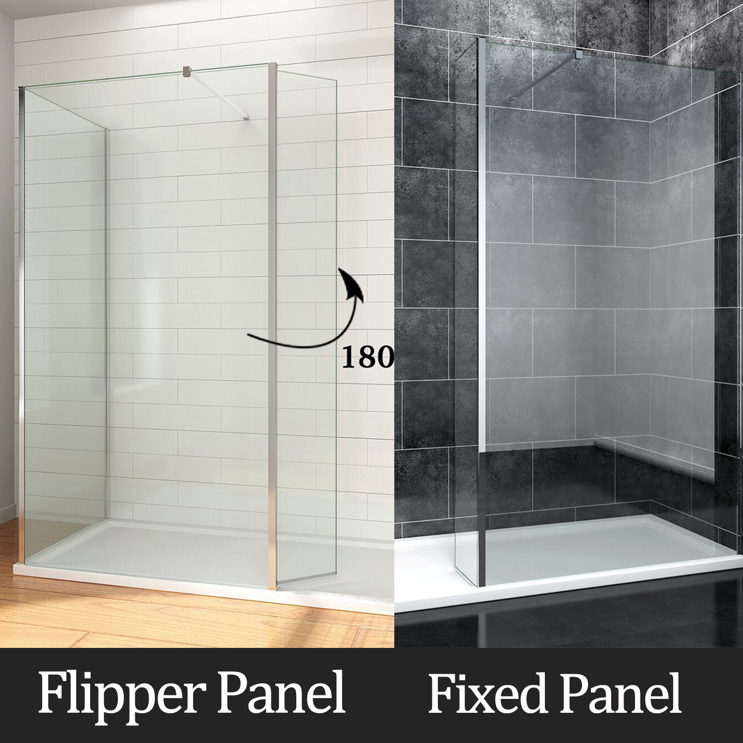 Walk In Shower With Flipper Panel.Details About Walk In Shower Enclosure Wet Room Screen Flipper Fixed Glass Panel Tray Waste