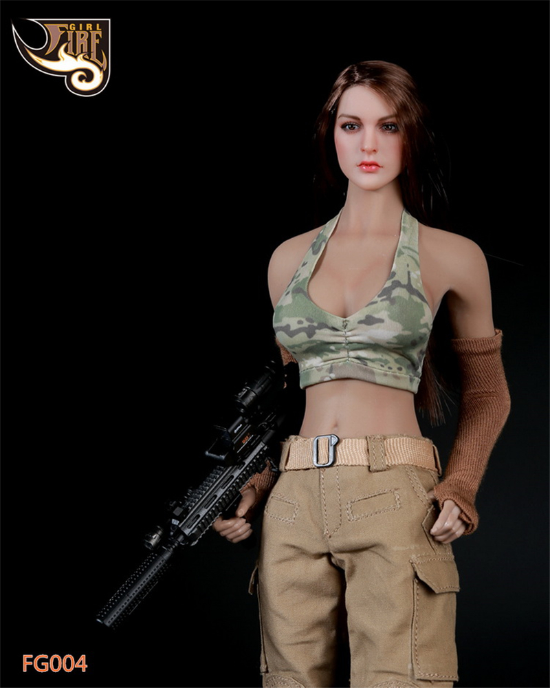 New Fire Girl Toys 16 Tactical Female Shooter Fire Series Woman Warrior  Ebay-9392