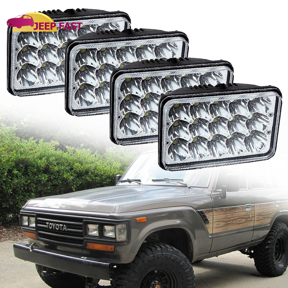 Fit Toyota Land Cruiser Fj60 Bj60 Headlights Seald Beam Chrome 81 87 4pcs H4651