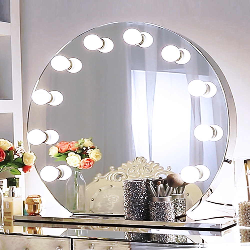 Vanity mirror round 27mm spanner in imperial