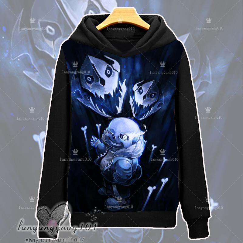 Game Undertale Sans Winter Anime Cosplay Hooded Sweatshirt Pullover Coat #Dl72