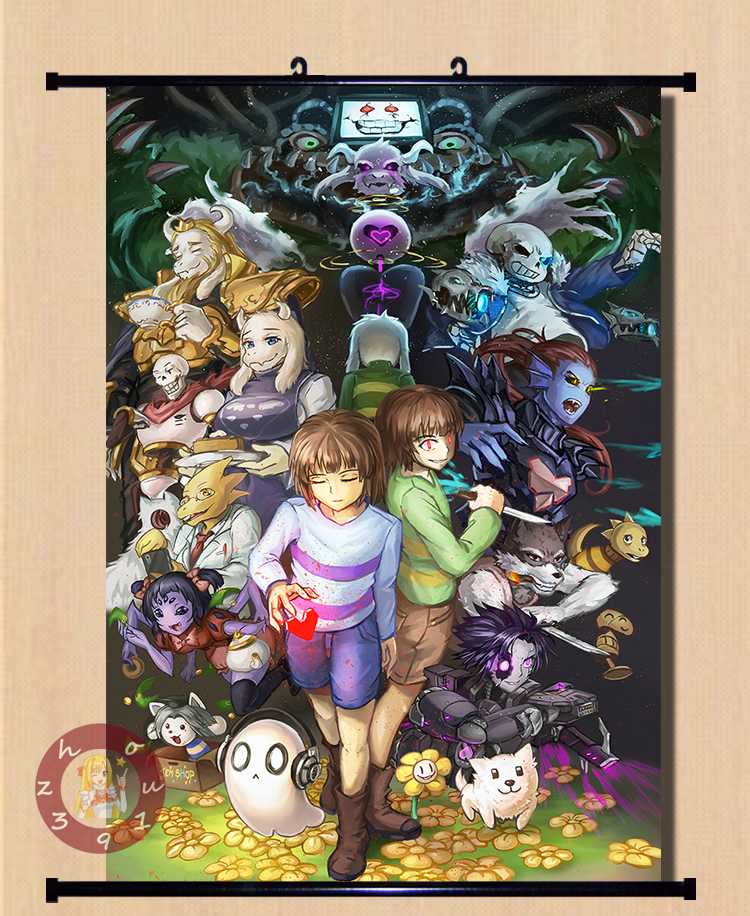 Anime Undertale Sans/Chara/Frisk Home Decor Poster Wall