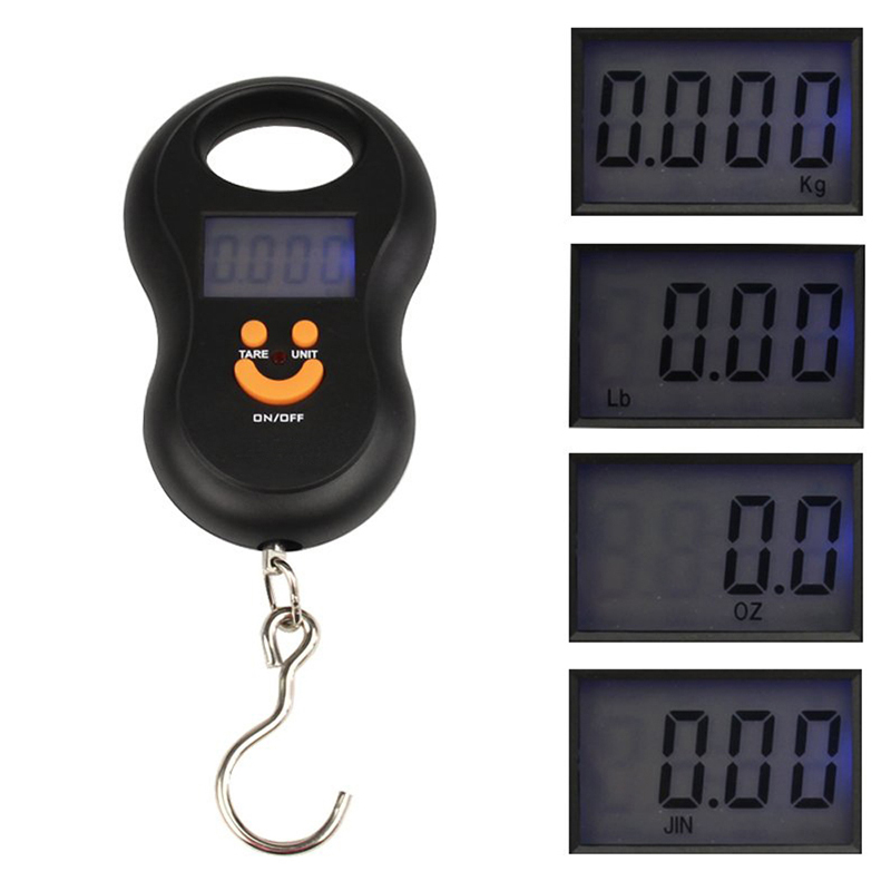 Precision 50kg//10g LCD Digital Hanging Luggage Weight Electronic Hook Scale US