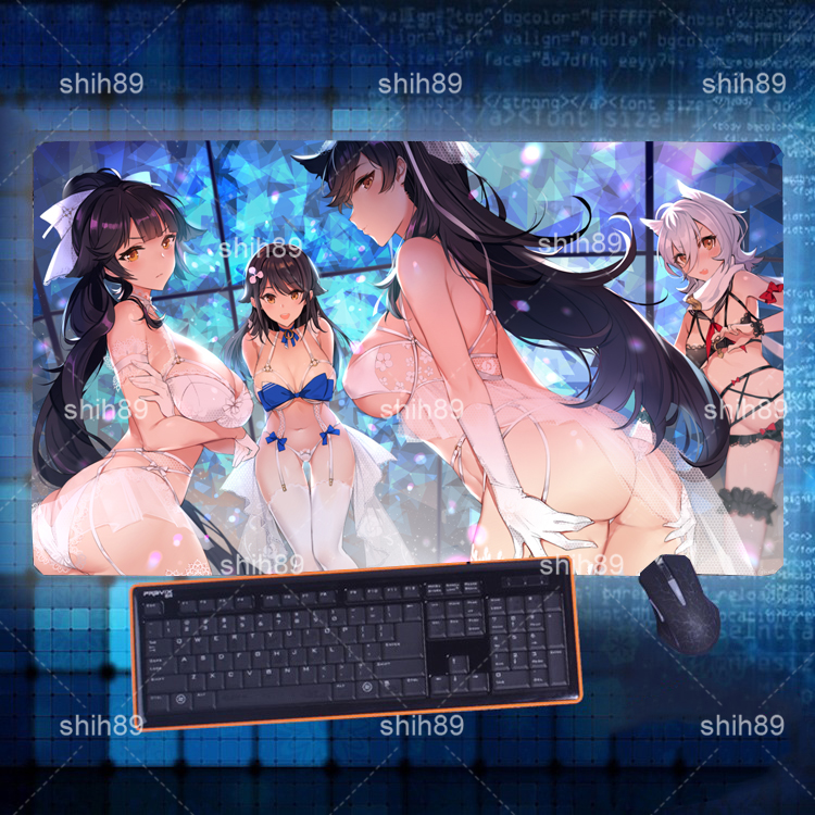 Anime Azur Lane Atago Takao Mouse Pad Mat Game Playmat Keyboard Play Mat 60x30cm