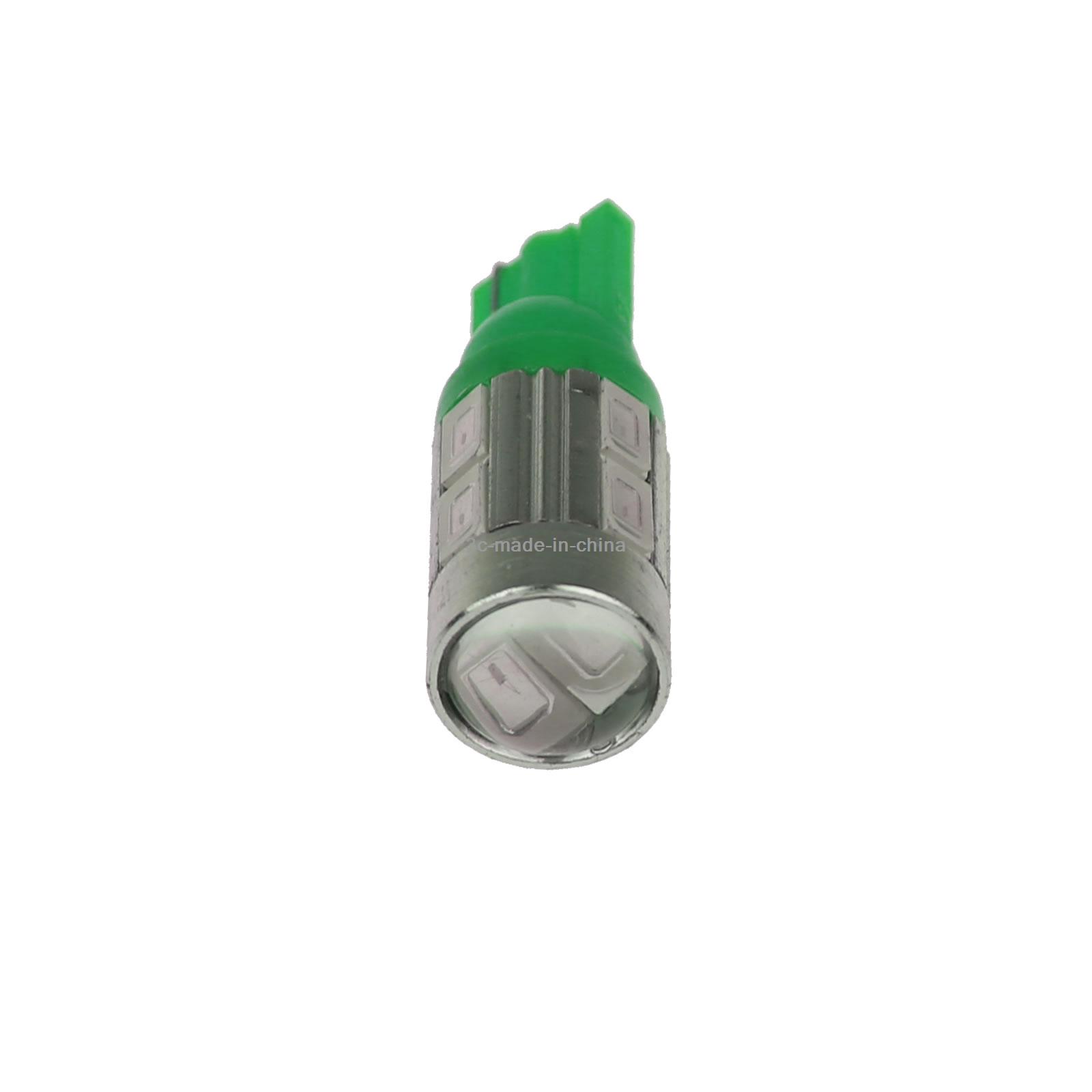 2x Green Car T10 W5W Generation Bulb Interior Light Lens 10 5630 SMD LED A061