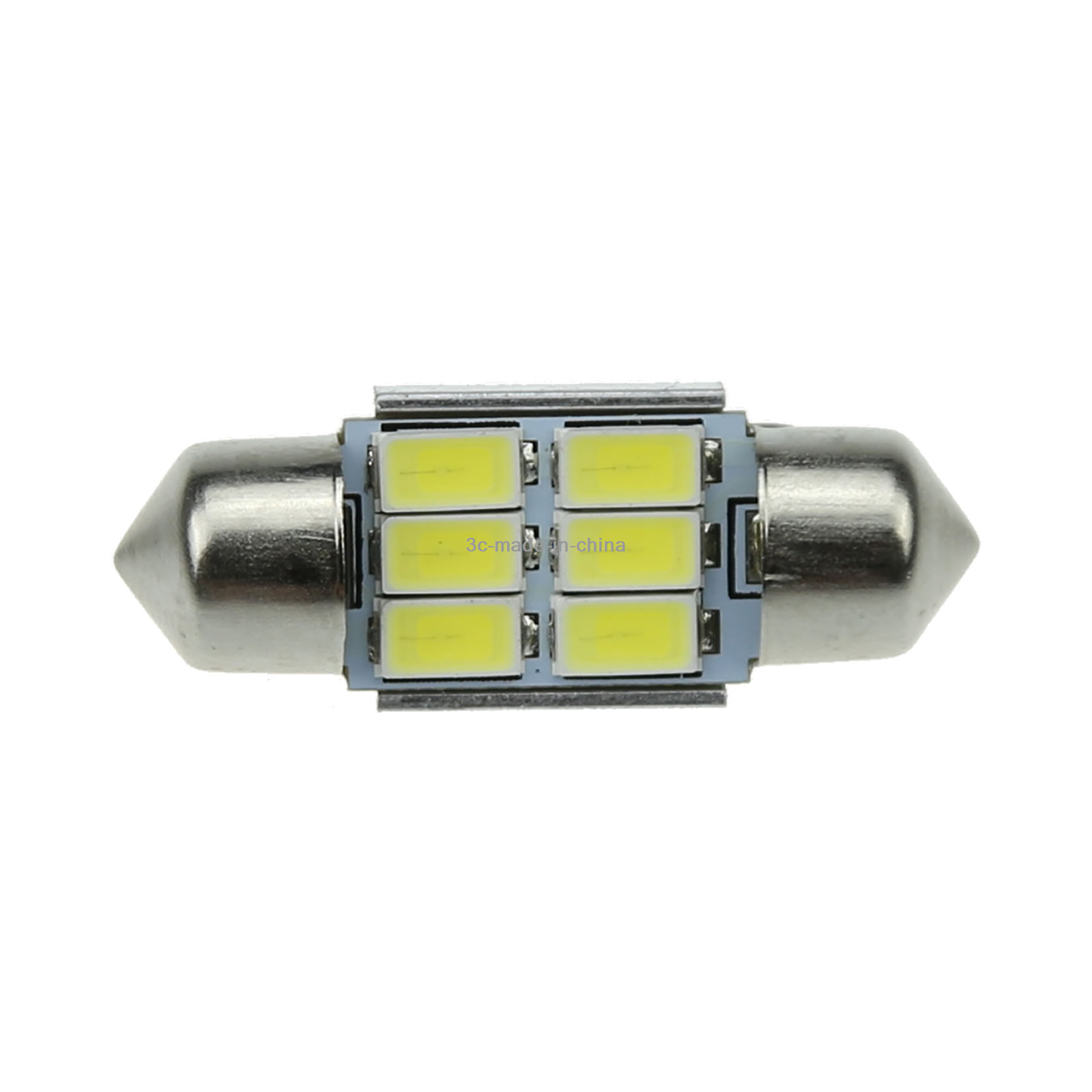 2x White AUTO 31MM Festoon Lamp interior Light Canbus Error Free 6 5630 SMD LED