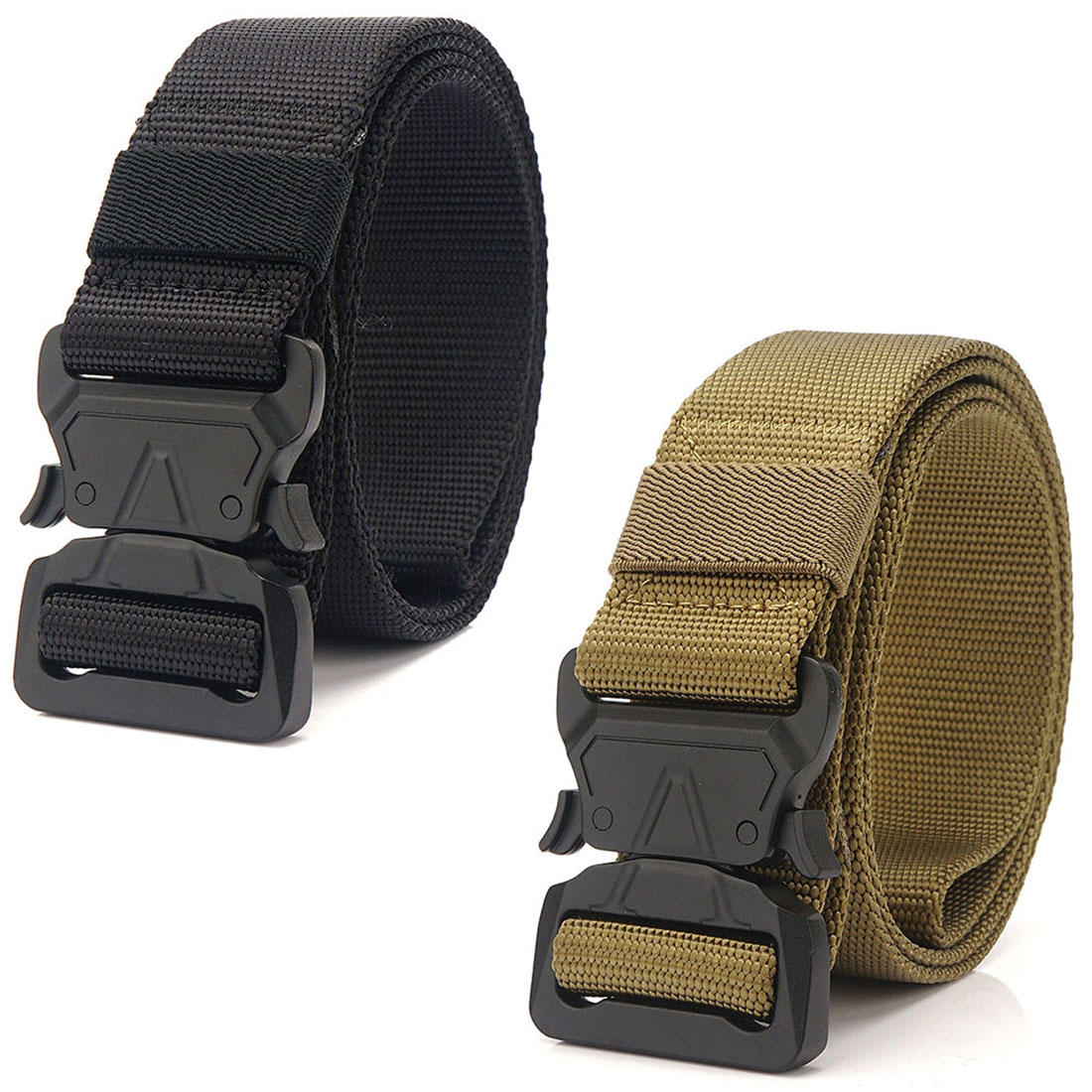 "1.5/"" Tactical Outdoor Men/'s Nylon Duty Web Belt Waistband for 28/""-50/"" inch Waist"