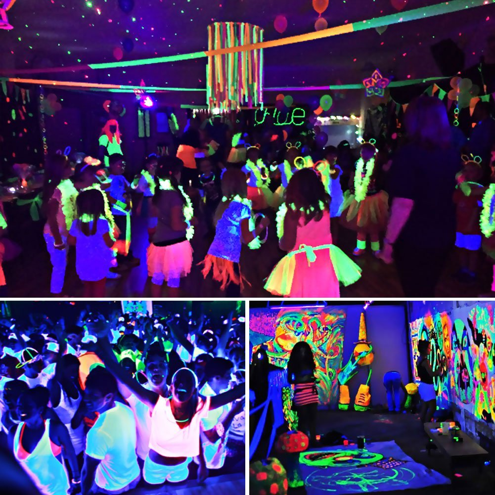 youtube party watch birthday lighting teen blacklight light black house preview uv