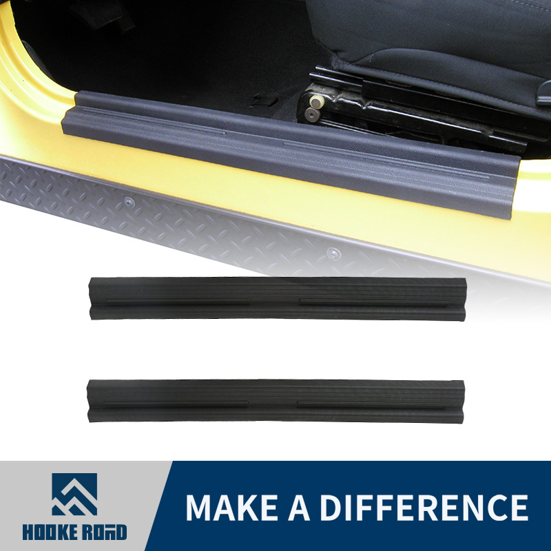 ABS Inner Car Door Sill Entry Guards Scuff Plate For Jeep Wrangler TJ 97-06