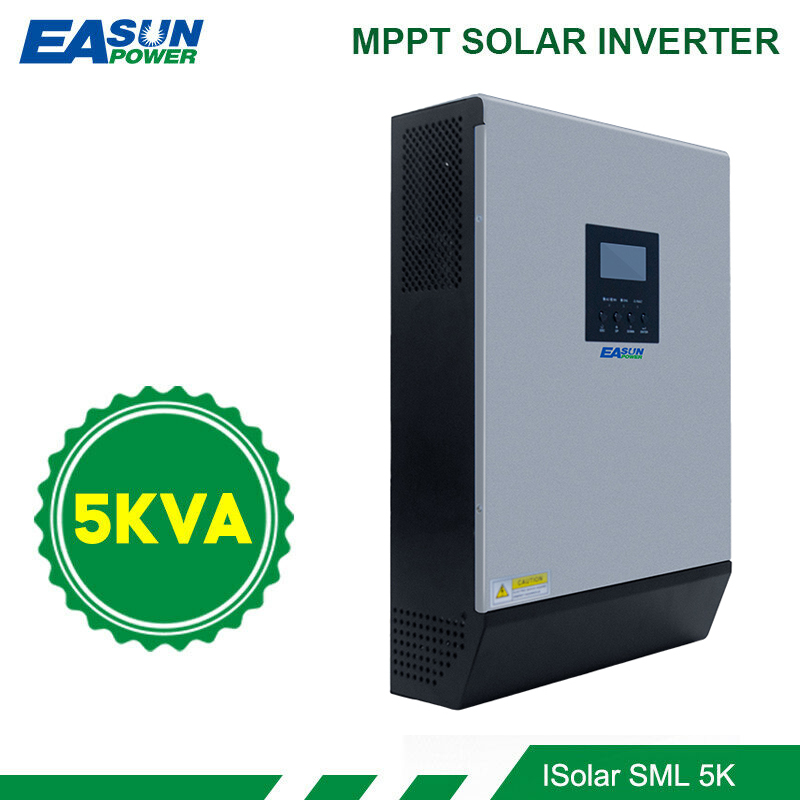 EASUN POWER 5000W Solar Inverter 80A MPPT Off Grid Inverter 48V 220V Hybrid Inverter Pure Sine Wave Inverter 60A Battery Charger