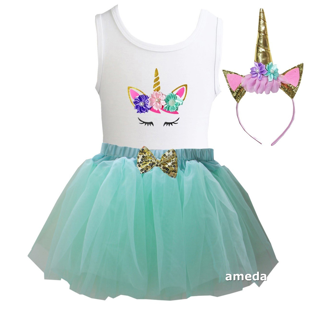 Details About Girls Mint Tulle Tutu 1st