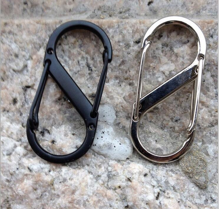 5pcs 5cm S Shape Type Buckle Gated Carabiner Key Ring Clip Hook Sports Gift
