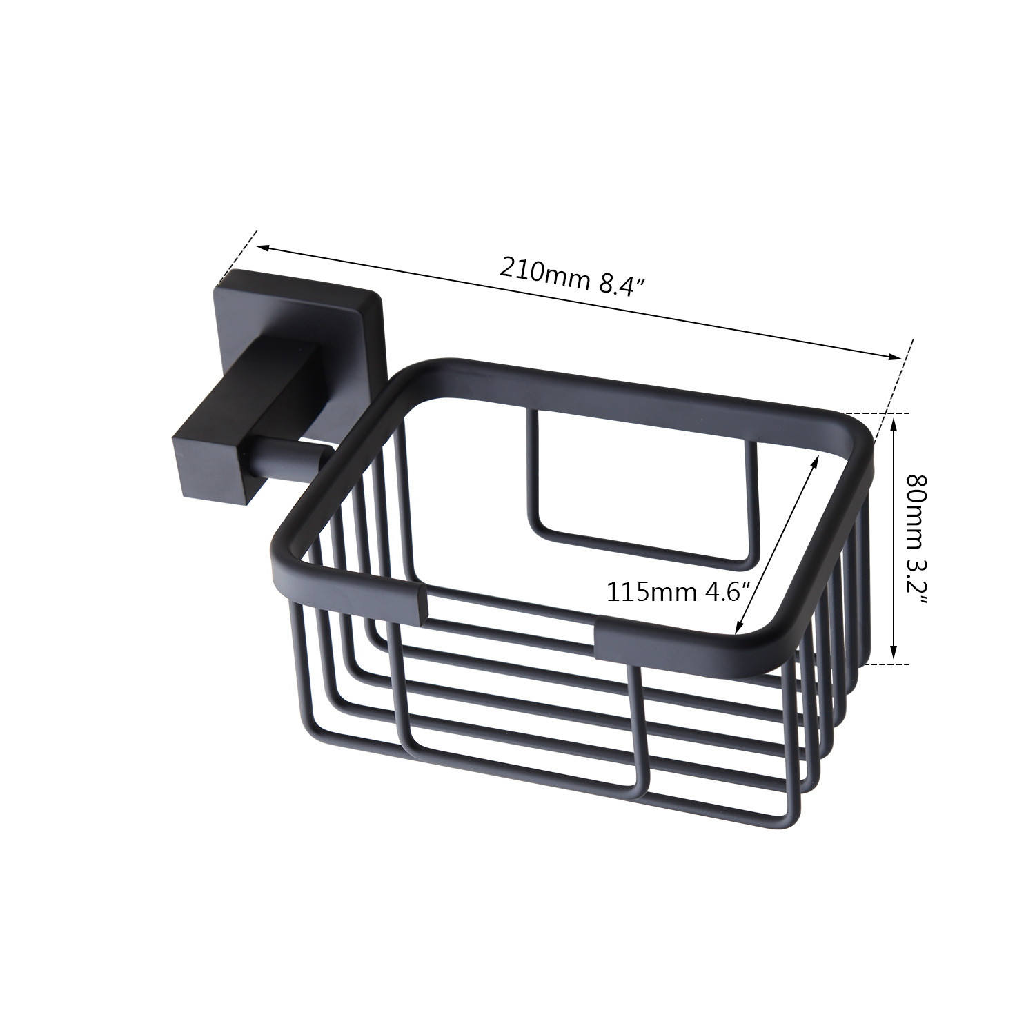 Aluminum Bathroom Accessories Black Towel Rack Towel Ring ...