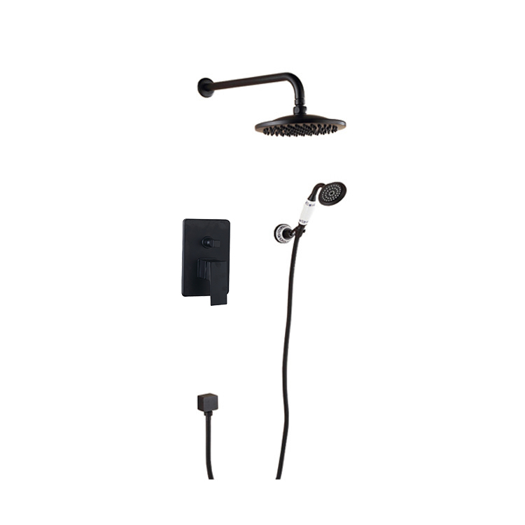 Oil rubbed bronze Shower System with 8inch Head Adjustable Holder ...