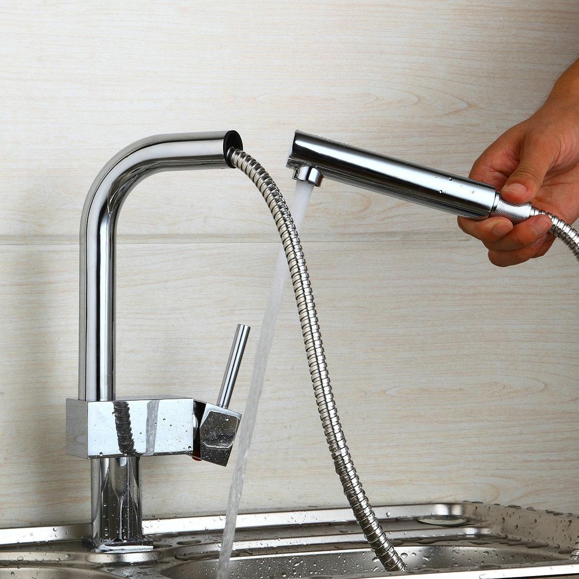DE KÜCHEN Wasserkran Spülen Wasserhahn Hohe ausziehbare ...
