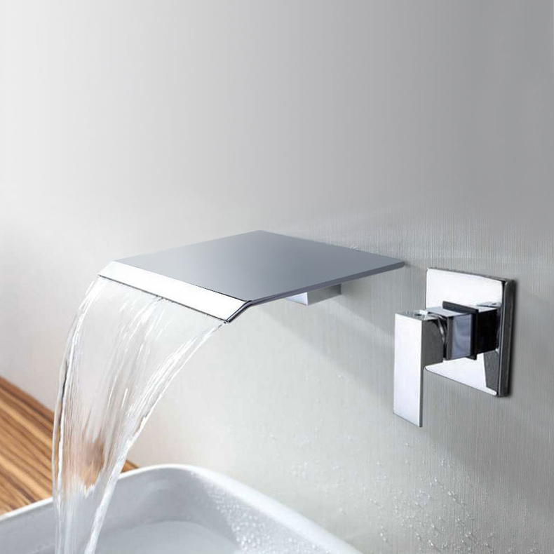 Waterfall Spout Bathroom Basin Bath Tub Faucet Wall