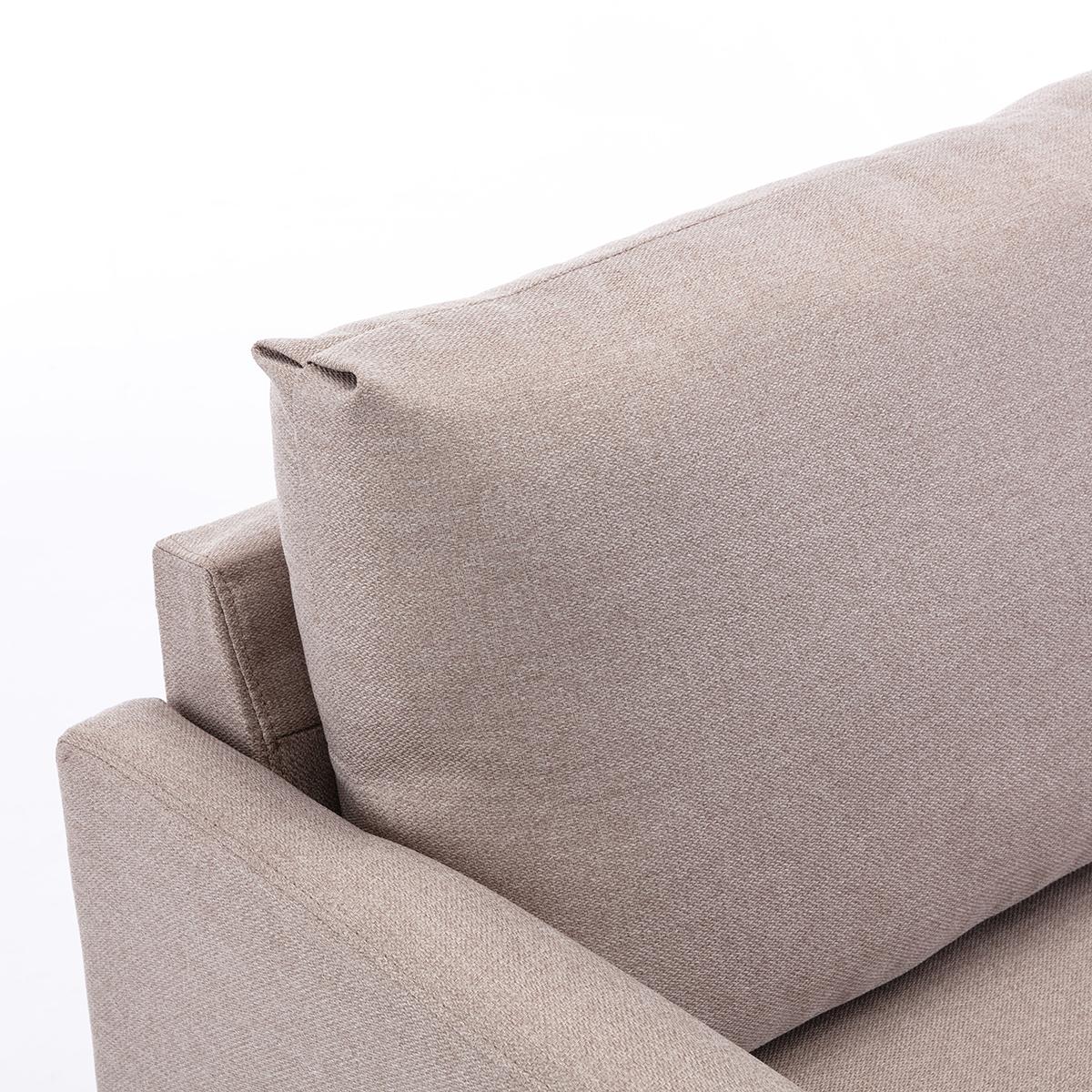 Beige Sofa 2 Sitzer Couch Stoffsofa Ecksofa Leinen ...