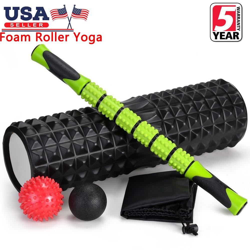 Foam Roller Yoga column Pilates Massage Physio Back Fitness Point Trigger Device