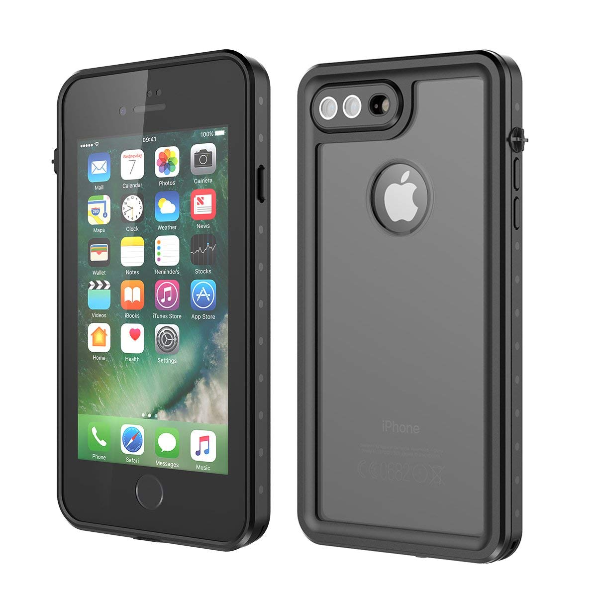 new york c2807 ce331 For Apple iPhone 7 8 Plus Life Waterproof Case Shockproof Dirtproof ...