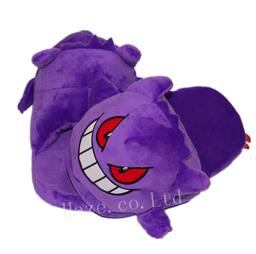 efda5e0fe37d Pokemon Go Gengar Home Warm Soft Plush Slipper Indoor Shoes Unisex 1 Pair