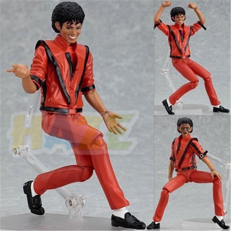 PVC Figure Toys In Box Kids Gift Figma 096 Michael Jackson MJ Thriller MV Ver