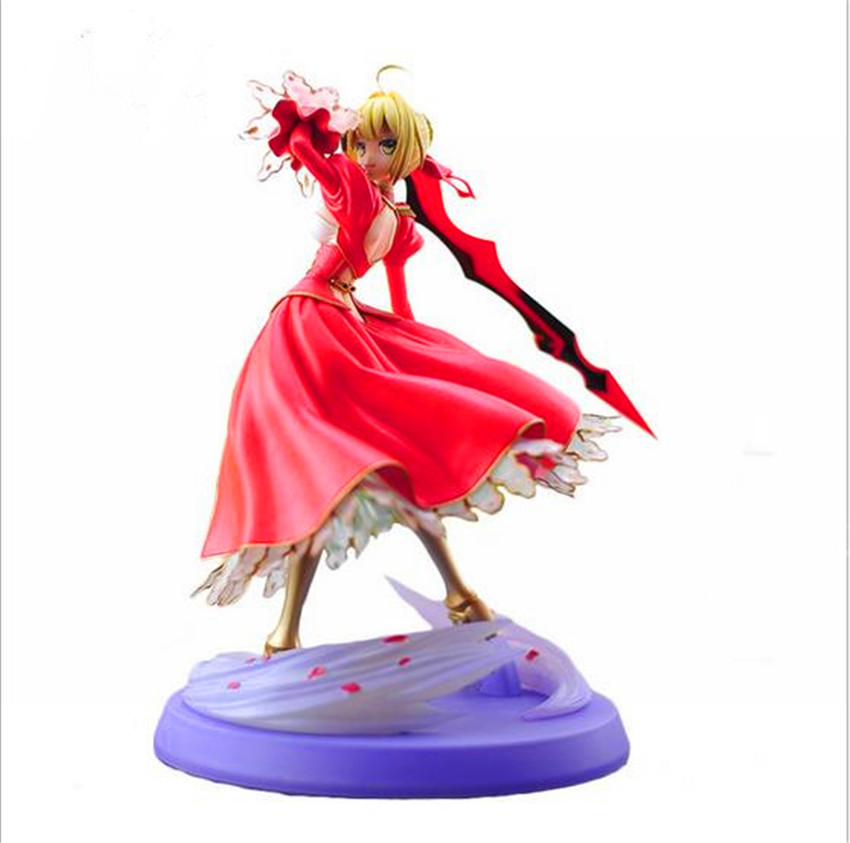Fate stay night fate extra red saber pvc figure Spielzeug Sammlung Anime Neue