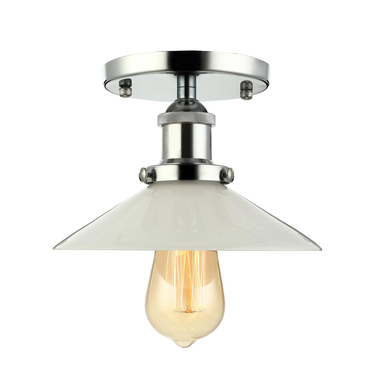 Details About Vintage Style Chrome 1 Light Mini Led Semi Flush Mount Ceiling Lights Fixtures