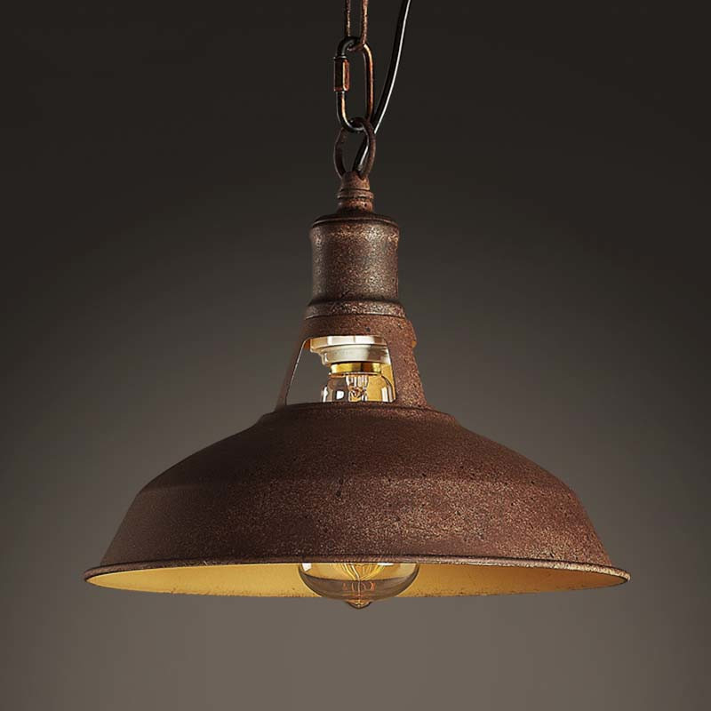 Details About Aged Antique Industrial Copper Pendant Lamp Rustic Ceiling Fixture Barn Lighting