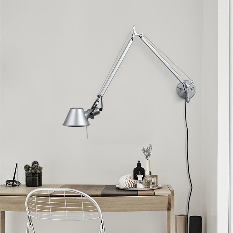 Adjustable Modern Long Swing Arm Wall Lamp Plug In Wall Sconce Reading Lighting 799355977210 Ebay