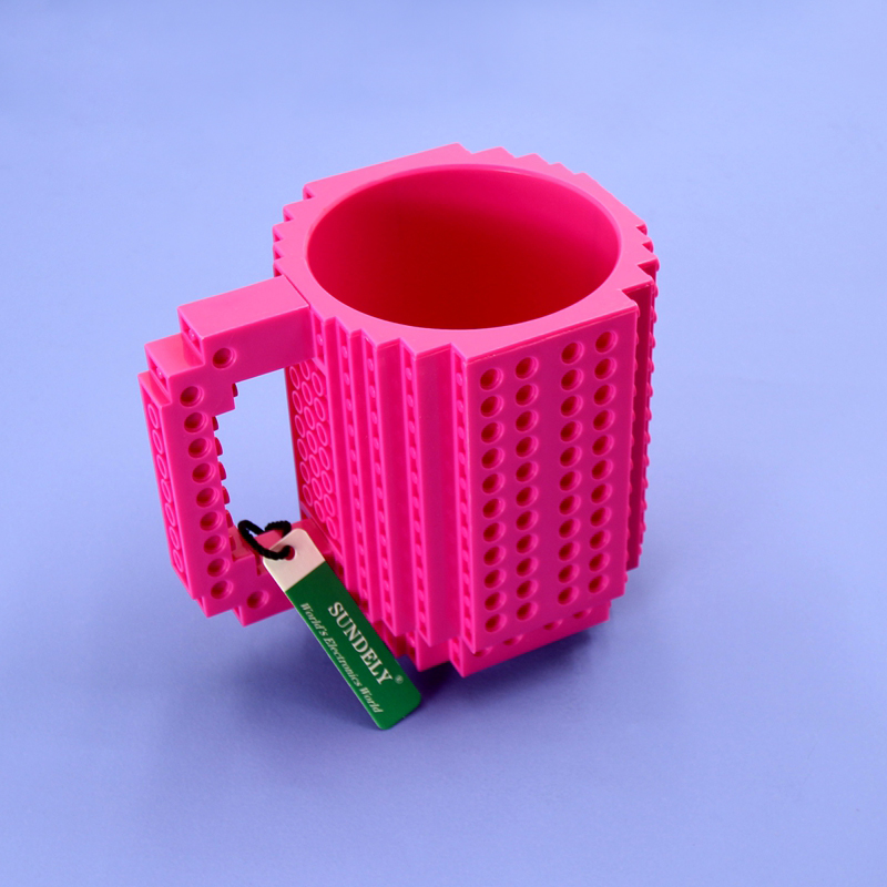 Creative Uses For Bricks: DIY Mode Creative Puzzle Bricks Mug Build On Blocks Coffee