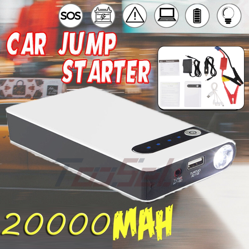 12V 20000mAh Car Jump Starter Booster Charger Battery Power Bank Engine