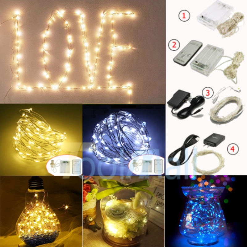 3050100 led string copper wire fairy light battery powered waterproof lights