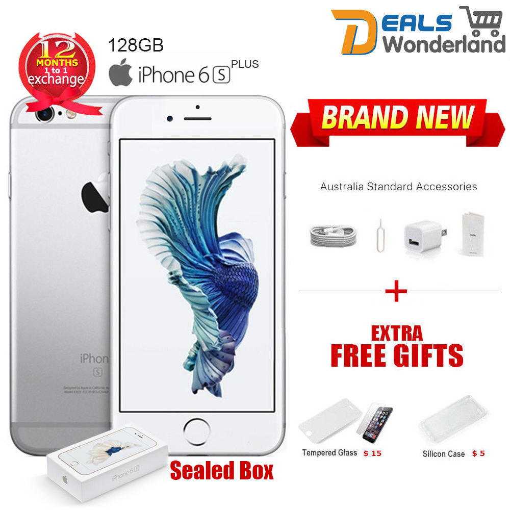Details about New Sealed Box Apple iPhone 6S Plus + 128GB Smartphone Mobile  Phone Silver afeb3e1cf8