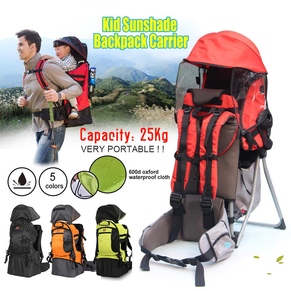 Deluxe Adjustable Baby Carrier Outdoor Light Hiking Child