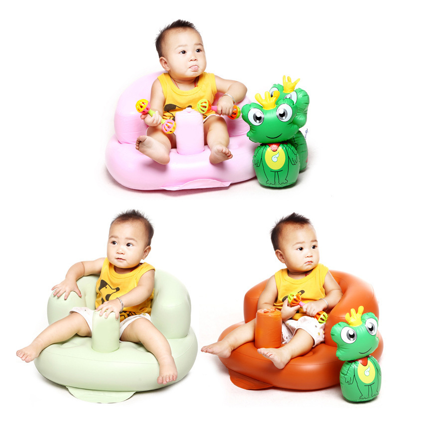 Inflatable Baby Sofa Toddlers Sit Me Up Stool Training Seat Dining ...