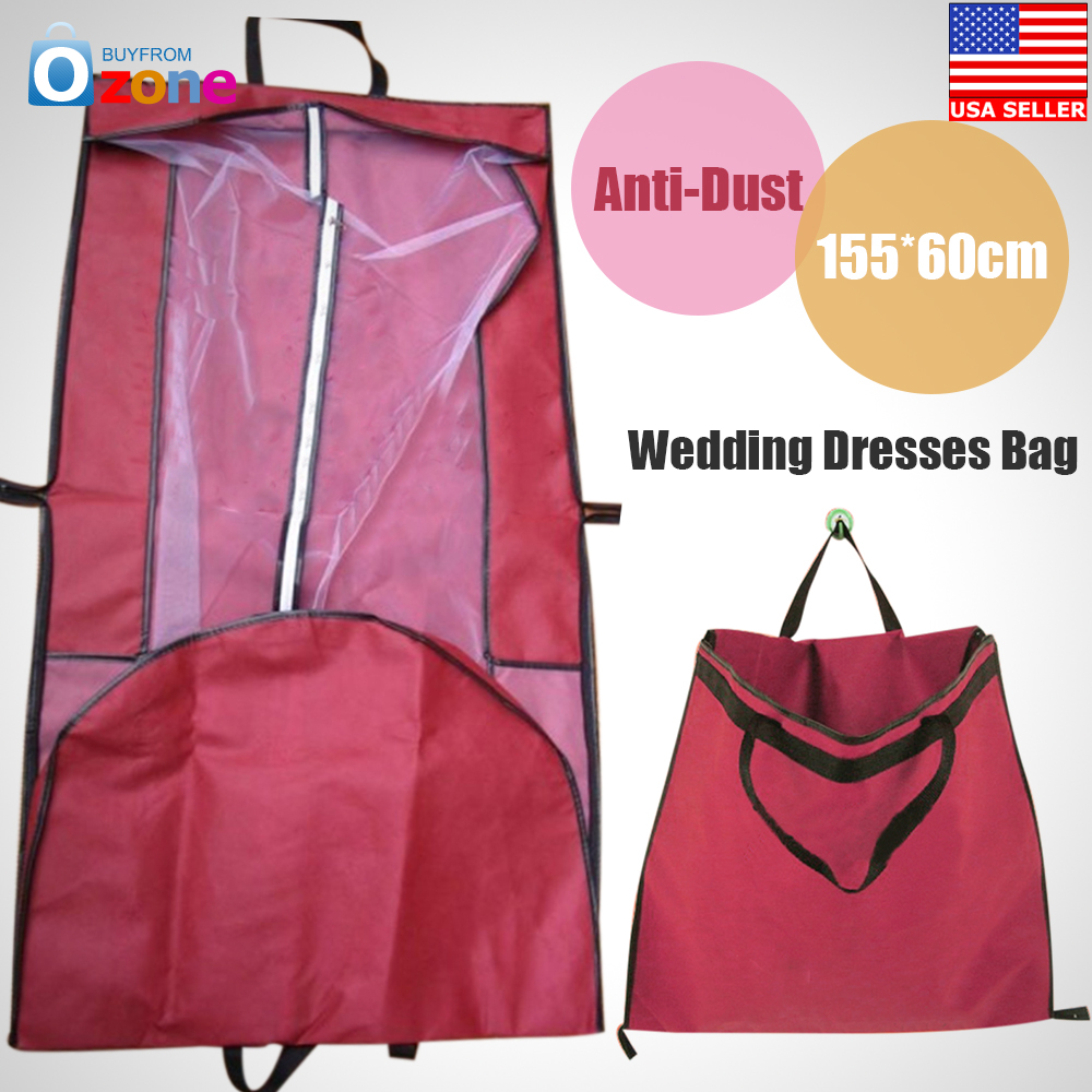 wedding dress protective bag wedding dress bag Wedding Bridal Long Dress Gown Garment Storage Red Protective Bag Cover Case