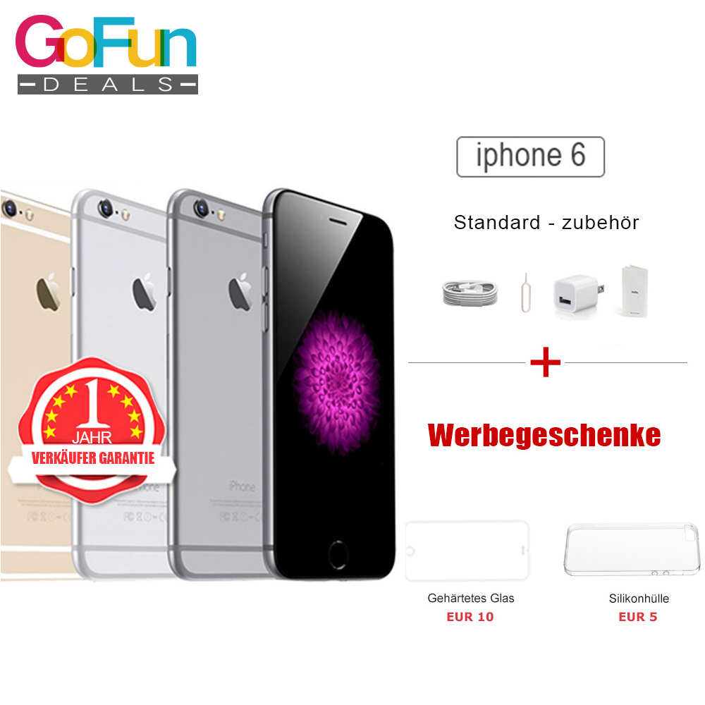 neu versiegelte box apple iphone 6 mobiltelefon sim frei. Black Bedroom Furniture Sets. Home Design Ideas