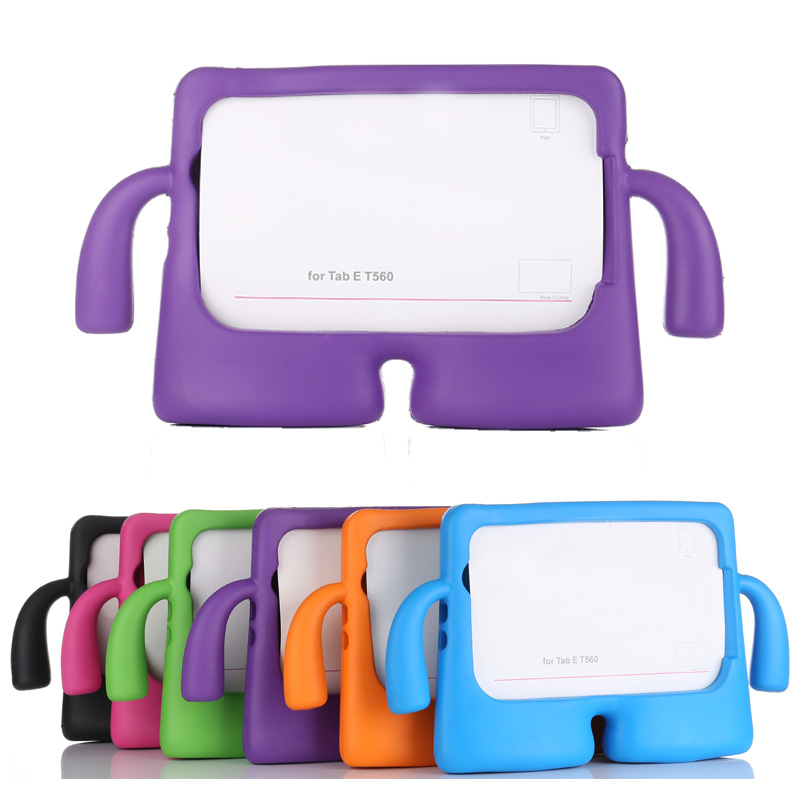 timeless design 6b5c0 bb536 Details about kids Stand Shockproof Rubber Foam Cover Case For Samsung  Galaxy Tab E 9.6