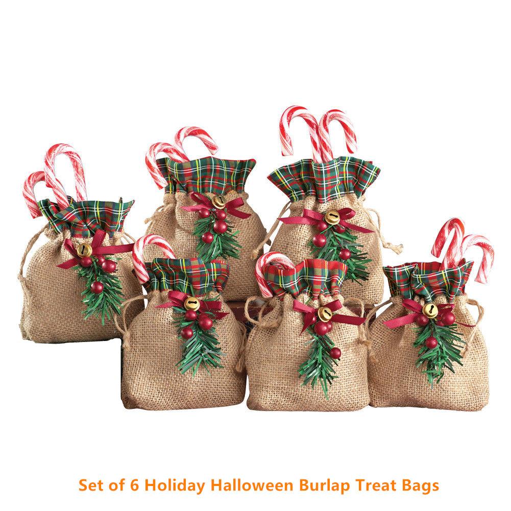 Gift Bags Holiday Burlap Treat