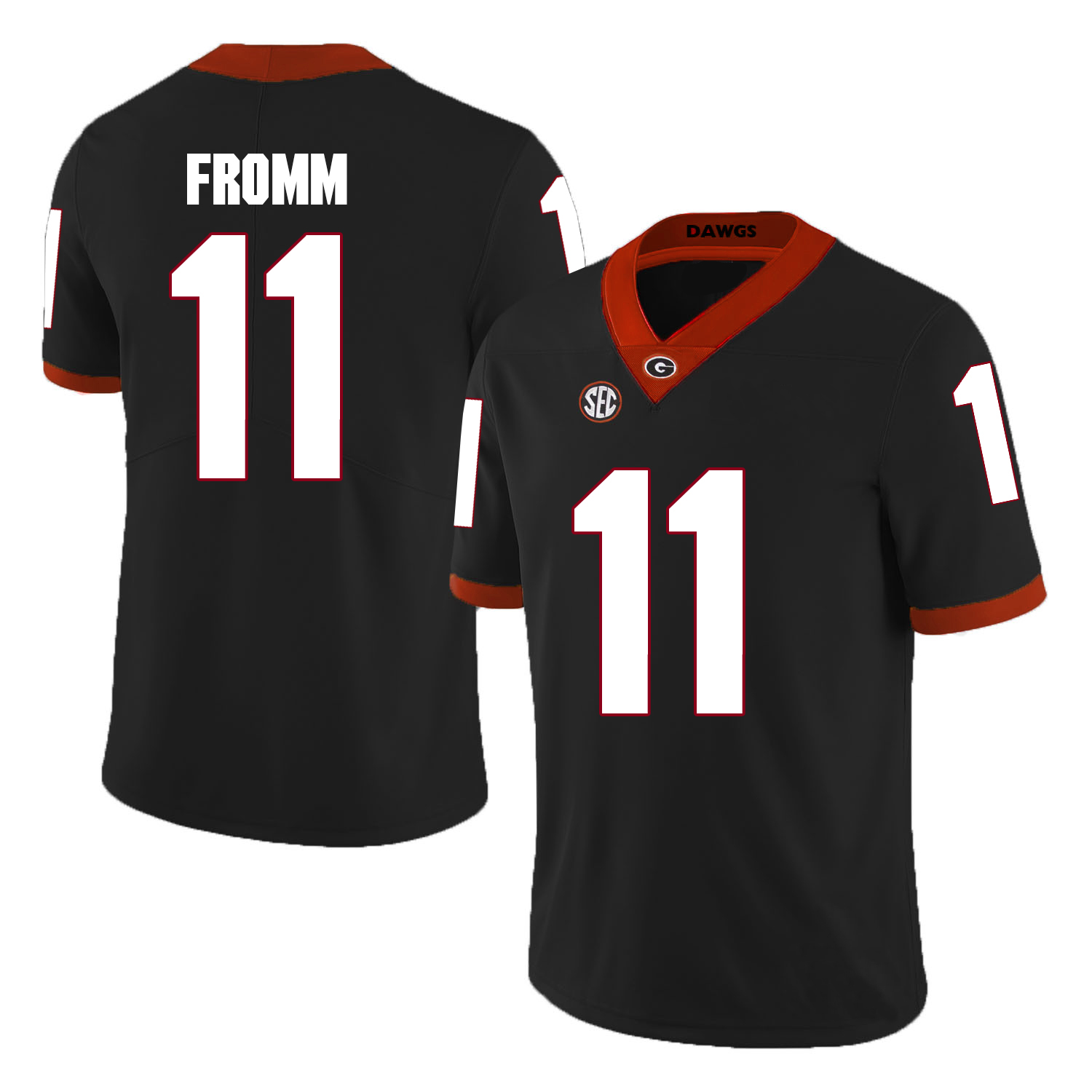 5d6295310 Jake Fromm  11 Georgia Bulldogs Stitched Jersey 2018 Alumni College  Football Men