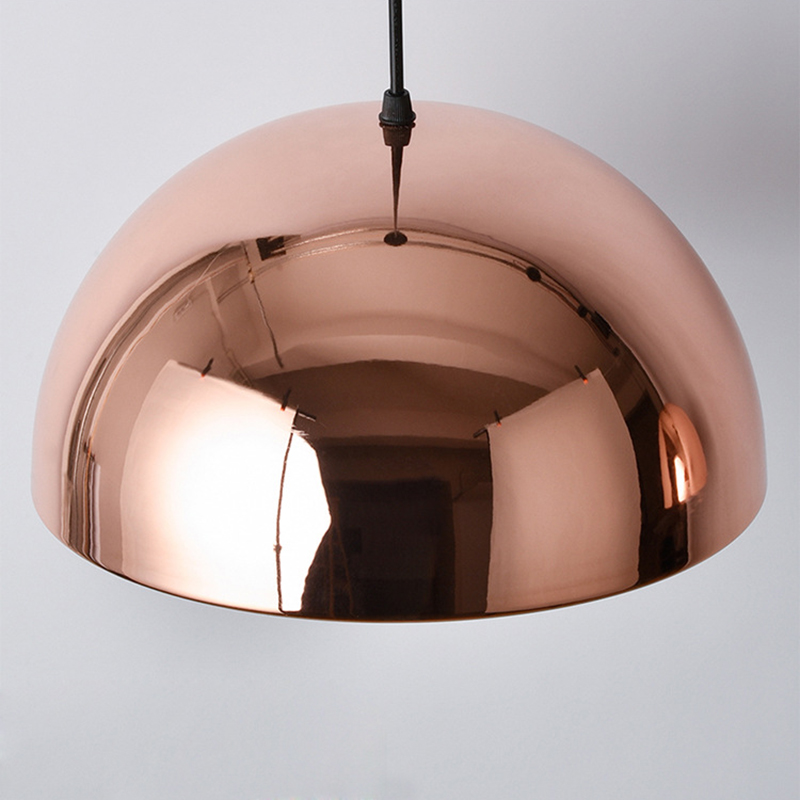 Modern Rose Gold Metal Shade 1 Lamp DIY Kitchen Ceiling
