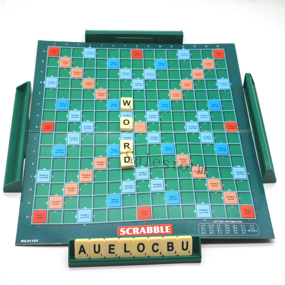 Game Letters Tiles Original Scrabble Board For Family U0026 Kids Adult Fun  Party Toy